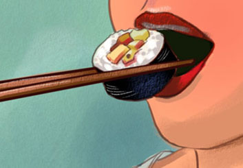 Kensuke Okabayashi's Food storyboard art
