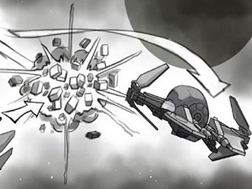 Kensuke Okabayashi's Action storyboard art