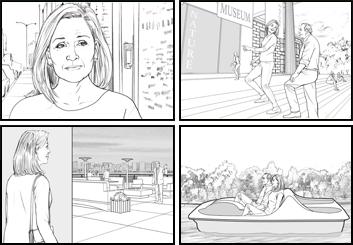 Al Frank's People - B&W Line storyboard art