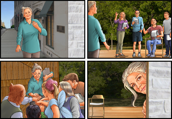 Al Frank's People - Color  storyboard art