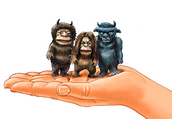 Al Frank's Characters / Creatures storyboard art