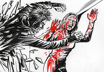 Al Frank's Comic Book storyboard art