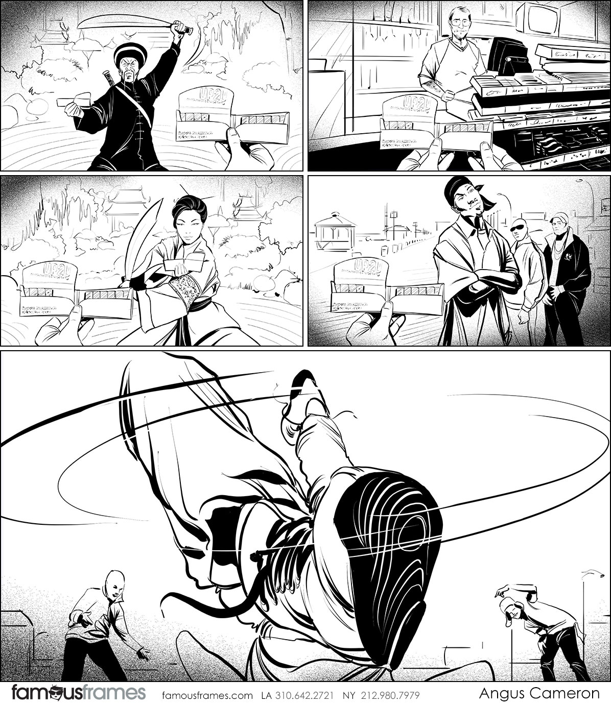 Angus Cameron's People - B&W Line storyboard art (Image #7097_114_1551485129)