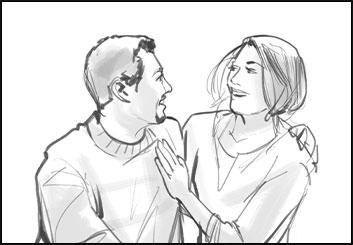 Angus Cameron's People - B&W Line storyboard art