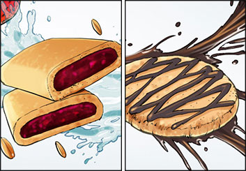Angus Cameron's Food storyboard art