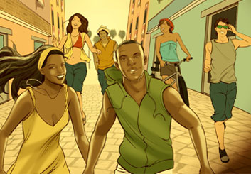 Angus Cameron's People - Color  storyboard art