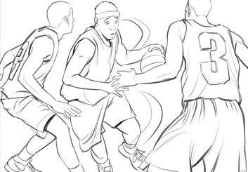 Angus Cameron's Sports storyboard art