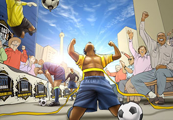 Angus Cameron's Sports storyboard art