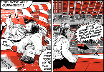 Angus Cameron's Comic Book storyboard art