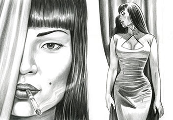 Al Evcimen's People - B&W Tone storyboard art