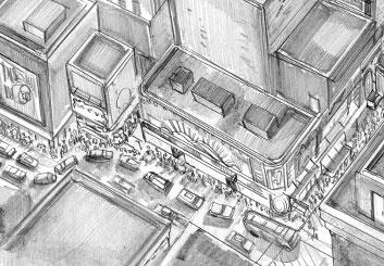 Al Evcimen's Environments storyboard art