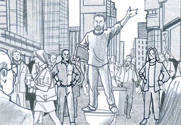 Brian Kammerer's People - B&W Tone storyboard art