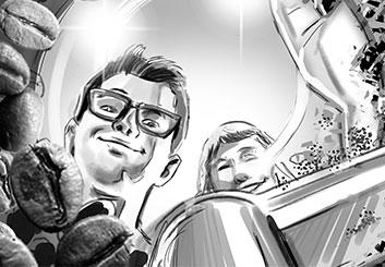 Lance Erlick's People - B&W Tone storyboard art