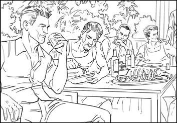 Lance Erlick's People - B&W Line storyboard art