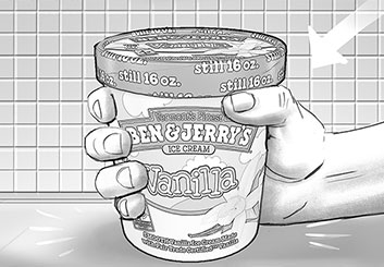 Lance Erlick's Products storyboard art