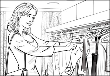 John Killian Nelson's People - B&W Line storyboard art