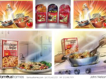 John Killian Nelson's Food storyboard art