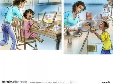 John Killian Nelson's Kids storyboard art