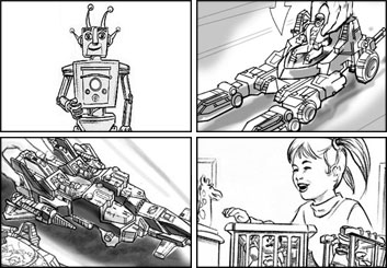 John Killian Nelson's Products storyboard art