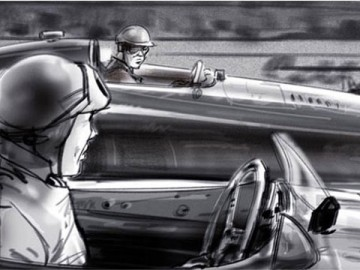 John Killian Nelson's Vehicles storyboard art