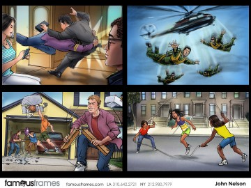 John Killian Nelson's Action storyboard art