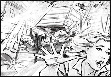 John Killian Nelson's Action storyboard art