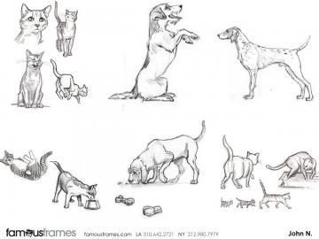 John Killian Nelson's Wildlife / Animals storyboard art
