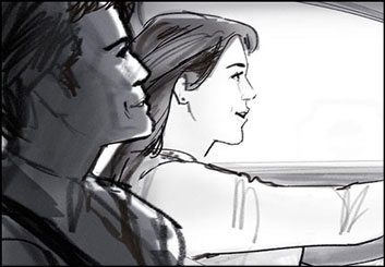 John Killian Nelson's People - B&W Tone storyboard art