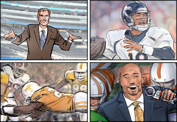 John Killian Nelson's Sports storyboard art