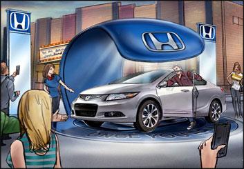 John Killian Nelson's Vehicles storyboard art