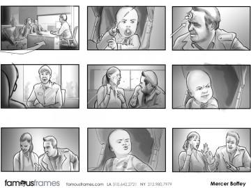 Mercer Boffey's People - B&W Tone storyboard art