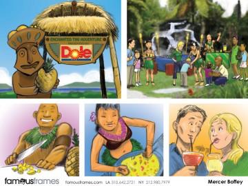 Mercer Boffey's Products storyboard art