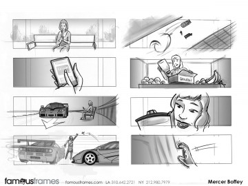 Mercer Boffey's Shootingboards storyboard art