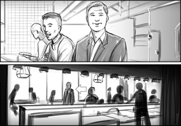 Mercer Boffey's People - B&W Tone storyboard art