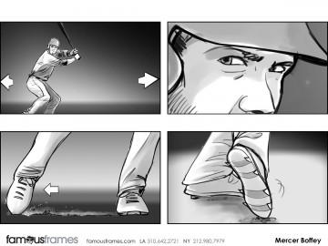 Mercer Boffey's Sports storyboard art