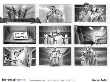 Mercer Boffey's Action storyboard art