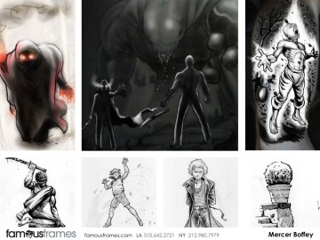 Mercer Boffey's Characters / Creatures storyboard art