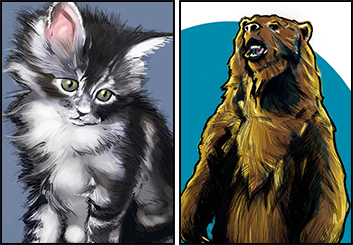 Mercer Boffey's Wildlife / Animals storyboard art