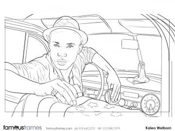 Kaleo Welborn's People - B&W Line storyboard art
