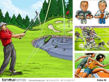 Kaleo Welborn's Sports storyboard art