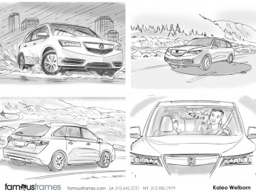 Kaleo Welborn's Vehicles storyboard art