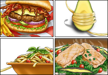 Kaleo Welborn's Food storyboard art