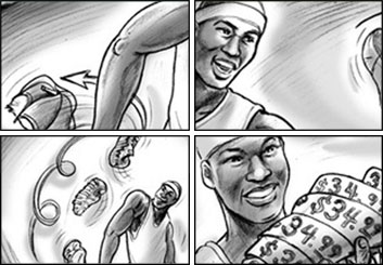 Kaleo Welborn's Sports storyboard art
