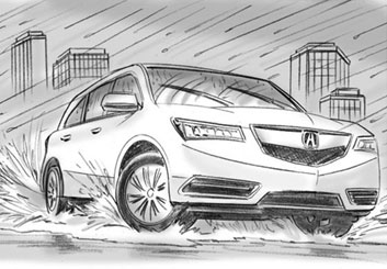 Kaleo Welborn's Vehicles storyboard art