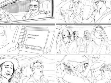 Kathy Berry's People - B&W Line storyboard art