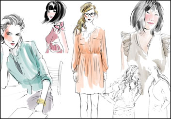 Kathy Berry's Beauty / Fashion storyboard art