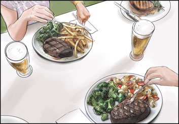 Kathy Berry's Food storyboard art