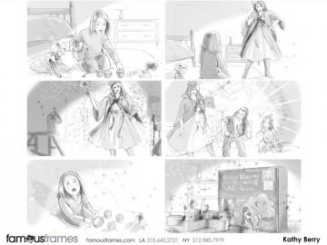Kathy Berry's Kids storyboard art