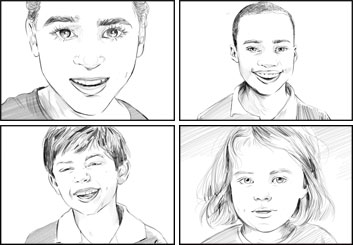 Kathy Berry's Kids storyboard art