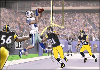 Kathy Berry's Sports storyboard art